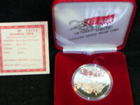 S 53:SINGAPORE SILVER PROOF 5 $ 1984 25 YRS OF NATION BUILDI
