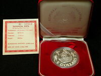 S 6: SINGAPORE SILVER 5$ PROOF DATED 1983 SOUTHEAST ASIA GAM