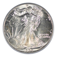 1939 WALKING LIBERTY HALF DOLLAR PCGS MINT STATE 65