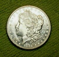 A365,MORGAN SILVER DOLLAR,HIGH GRADE,1881-S VAM 7,R5 BU