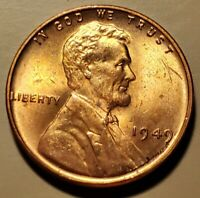 1949 P LINCOLN WHEAT CENT GEM RED BRILLIANT UNC H2118
