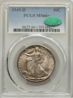 1945-D 50C MINT STATE 66 PCGS. CAC.