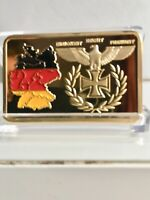 COLLECTABLES GOLD PLATED GERMAN MILITARY WW2 IRON CROSS TERR