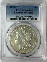 1893-S $1 MORGAN SILVER DOLLAR PCGS GENUINE EXTRA FINE  DETAIL T5