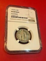 1918-S 25C STANDING LIBERTY QUARTER SILVER COIN NGC VF DETAILS CLEANED