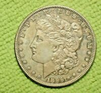 A373,MORGAN SILVER DOLLAR,TONED,1896-P VAM 6B,SELDOM SEEN R5,UNC