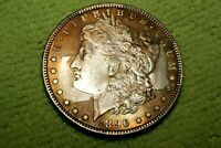 A440,,RAINBOW TONED 1896-P VAM 6B MORGAN SILVER DOLLAR,R5