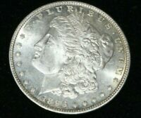 A423,MORGAN SILVER DOLLAR,HIGH GRADE PL 1896 P VAM 19TOP 100 W SUBTLE TONING