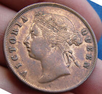 VERY NICE 1897 MALAYSIA ONE CENT STRAIGHTS SETTLEMENT   EST
