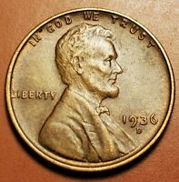1936 D LINCOLN WHEAT CENT HIGHER GRADE H2255