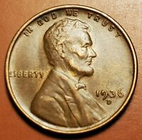 1936 D LINCOLN WHEAT CENT HIGHER GRADE H2256
