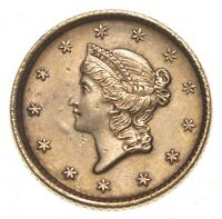 1852 $1.00 LIBERTY HEAD GOLD   WALKER COIN COLLECTION  065