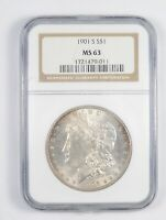 MINT STATE 63 1901-S MORGAN SILVER DOLLAR - GRADED NGC 7879