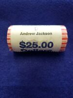 2008-D ANDREW JACKSON PRESIDENTIAL $1 COIN ORIGINAL ROLL - SHIPS FREE