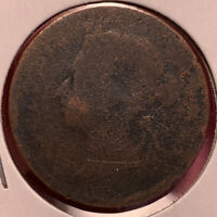 1888 STRAITS SETTLEMENTS 1 CENT COIN. ABOUT GOOD CIRCULATED
