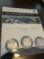 ATB 2010  YELLOWSTONE 3 COIN SET QUARTERS OMP P D S MINTS