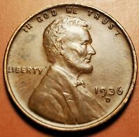 1936 D LINCOLN WHEAT CENT H2338
