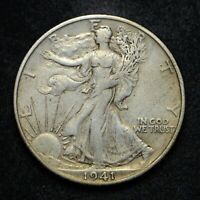 1941-S WALKING LIBERTY SILVER HALF DOLLAR BB4806