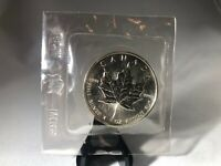 DIRECT FROM R.C.M.1OZ SILVER BU MAPLE WRAPPED 1989 TRENDING