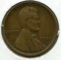 1920-S LINCOLN WHEAT CENT PENNY - SAN FRANCISCO MINT - BJ215