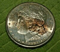 A496,HIGH GRADE,MORGAN SILVER DOLLAR,1881-S VAM-38 DBLD SPIKED 8'S