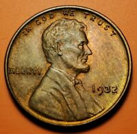 1932 P LINCOLN WHEAT CENT HIGHER GRADE UNC TONING NT26