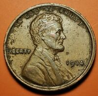 1914 P LINCOLN WHEAT CENT HIGHER GRADE NT33