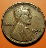 1932 D LINCOLN WHEAT CENT NT51