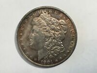 1901 AU MORGAN SILVER DOLLAR DATE FROM ALBUM COLLECTION M14