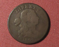 1802 DRAPED BUST LARGE CENT   NICE EARLY TYPE EXAMPLE DARK TONING PLEASE VIEW