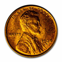 1936-S LINCOLN CENT BU RED - SKU3319