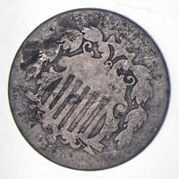 FIRST US NICKEL   1882   SHIELD NICKEL   US TYPE COIN   OVER