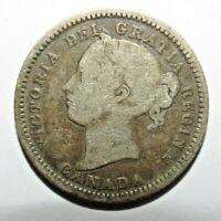 CANADA 10 CENTS 1881 SILVER