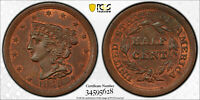1851 1/2C BRAIDED HAIR HALF CENT MINT STATE 64RB PCGS/CAC,  & ORIGINAL