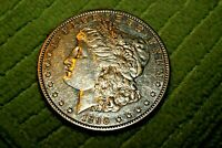 A630,SELDOM SEEN 1890 S DMPL AU MORGAN SILVER DOLLAR,