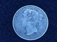 BS 61: CANADA NEW FOUNDLAND SILVER 25 CENTS DATED 1896 HOLED