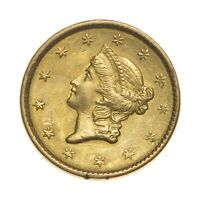 CHOICE AU/UNC $1.00 UNITED STATES GOLD COIN 1851 $1 LIBERTY