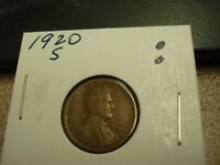 1920 S - USA ONE CENT - LINCOLN PENNY
