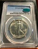 1939 WALKING LIBERTY HALF PROOF PCGS PR67 CAC  --LUSTROUS BEAUTY