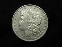1893 MORGAN SILVER DOLLAR SHARP STRIKE AU/AU
