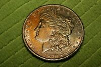 A643,TONED MORGAN SILVER DOLLAR,1890 S, COIN,UNC
