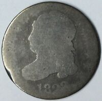 1823 10C CAPPED BUST DIME AG UNCERTIFIED