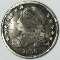 1835 10C CAPPED BUST DIME UNCERTIFIED