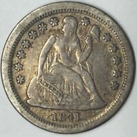 1841-O 10C SEATED LIBERTY DIME VF UNCERTIFIED