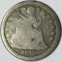 1842-O 10C SEATED LIBERTY DIME G DETAILS UNCERTIFIED