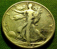 1934-D WALKING LIBERTY HALF DOLLAR 50C    EARLY BETTER DATE COIN  62HM