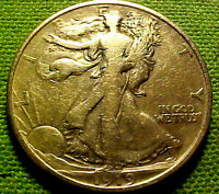1919-D WALKING LIBERTY HALF DOLLAR 50C    EARLY BETTER DATE COIN  92BF