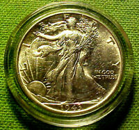 1943 WALKING LIBERTY HALF DOLLAR 50 CENTS 50C  BRIGHT LUSTROUS  COIN  52BF