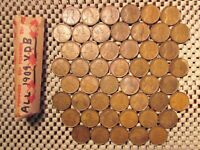 VERY RARE ROLL OF 50 1909 VDB LINCOLN HEAD WHEAT PENNIES ALL