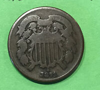 1871 TWO CENT PIECE VG BETTER DATE